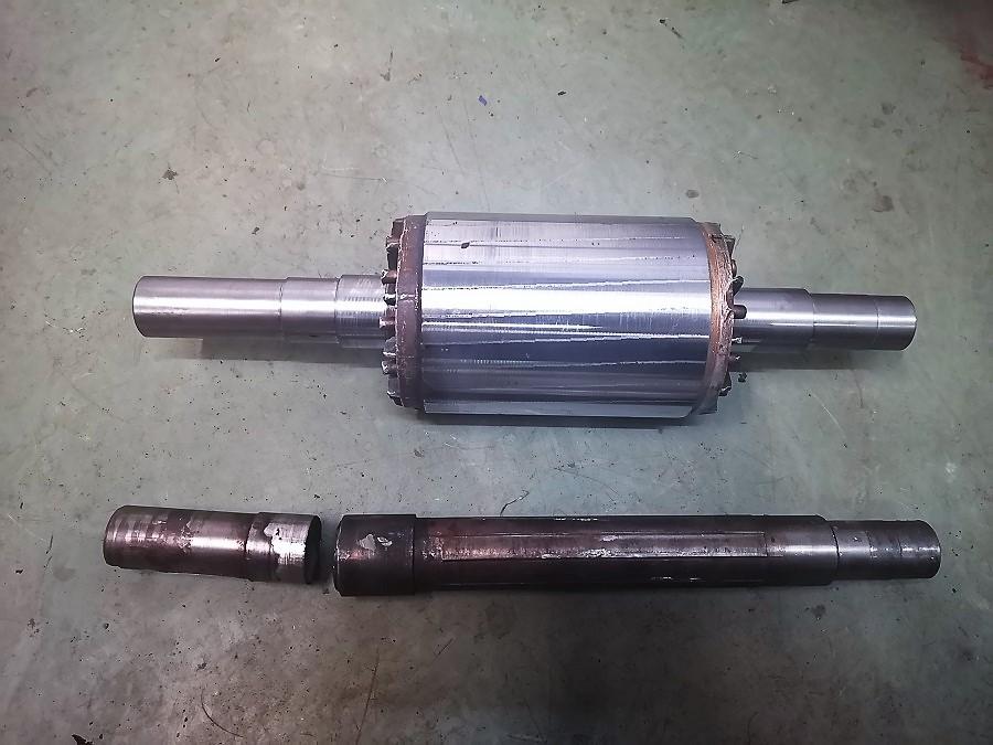 Wymiana uszkodzonego wału silnika elektrycznego AMINEX