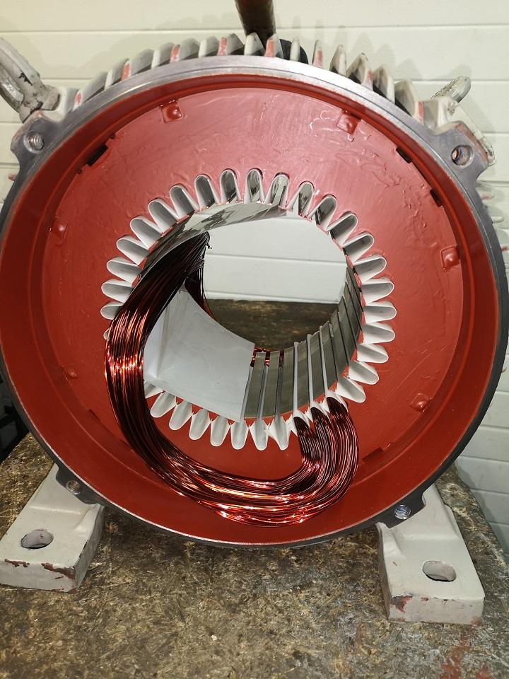 przezwajanie silnika elektrycznego 30kW AMINEX 2