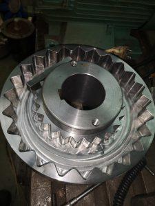 Wyważanie dynamiczne sprzęgła wykonanego na maszynie CNC Aminex