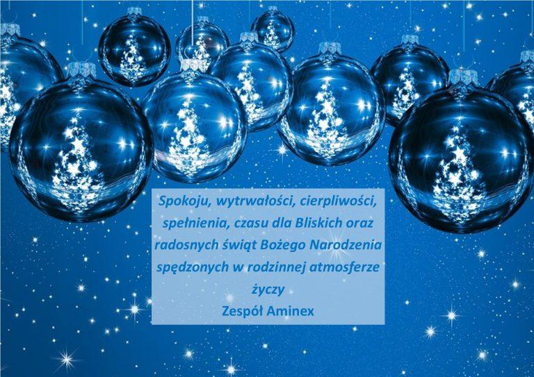 Radosnych świąt życzy AMINEX
